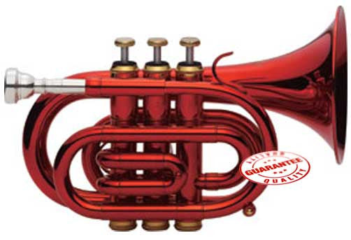 Fever Red Pocket Trumpet With Case
