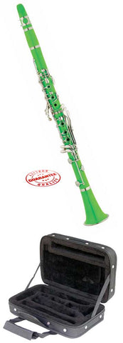 Hawk Green Colored Bb Clarinet with Case, Mouthpiece and Reed