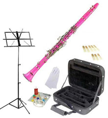 Hawk Pink Bb Clarinet Package with Case, Reeds, Music Stand & Cleaning Kit