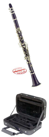 Hawk Purple Colored Bb Clarinet with Case, Mouthpiece and Reed