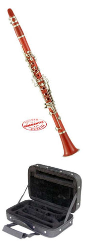 Hawk Red Colored Bb Clarinet with Case, Mouthpiece and Reed