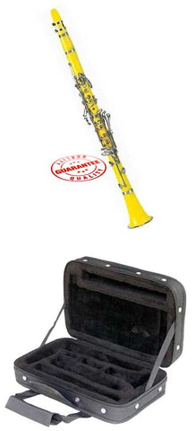Hawk Yellow Colored Bb Clarinet with Case, Mouthpiece and Reed