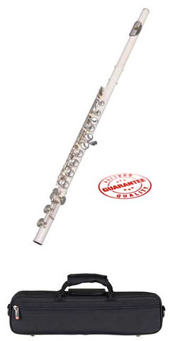 Hawk Color Closed Hole C Flute White with Case