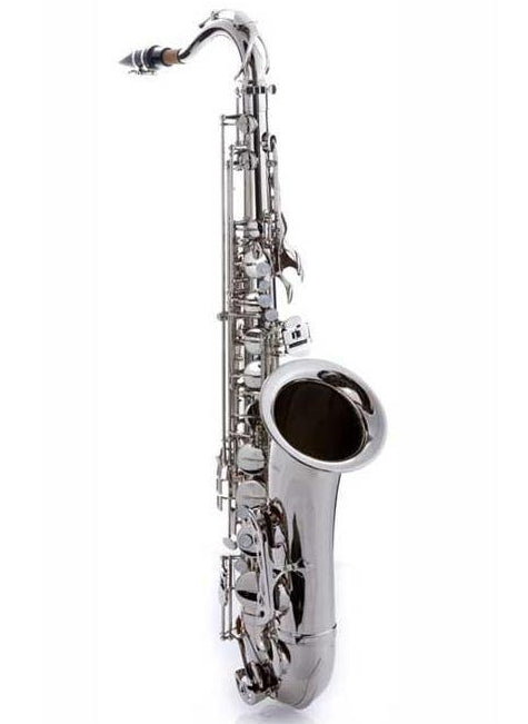 Hawk Tenor Saxophone Nickel Finish with Case, Mouthpiece and Reed
