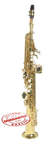 Hawk Straight Soprano Saxophone Gold with Case, Mouthpiece and Reed