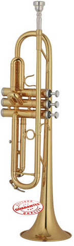 Hawk Lacquer Brass Bb Trumpet with Case and Mouthpiece