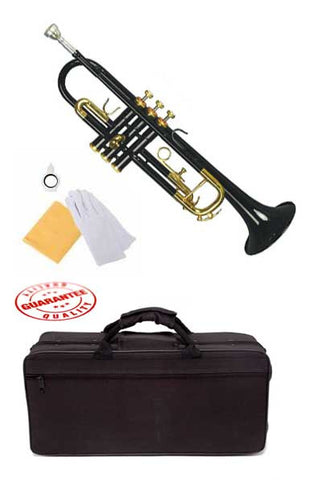 Hawk Lacquer Color Bb Trumpet Black with Case and Mouthpiece