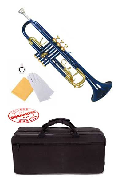Hawk Lacquer Color Bb Trumpet Blue with Case and Mouthpiece
