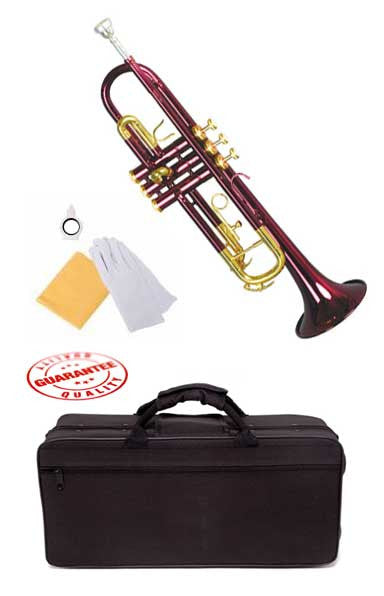 Hawk Lacquer Color Bb Trumpet Purple with Case and Mouthpiece