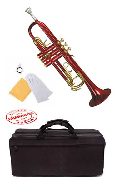 Hawk Lacquer Color Bb Trumpet Red with Case and Mouthpiece