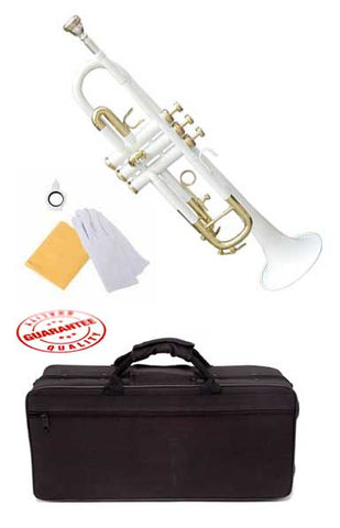 Hawk Lacquer Color Bb Trumpet White with Case and Mouthpiece