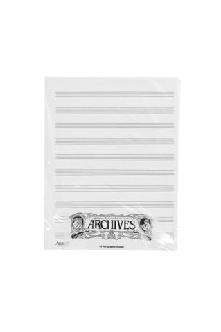 Archives Looseleaf Xerographic Manuscript Paper, 10 Stave, 50 Pages