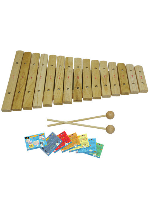 D'Luca 15 Notes Wood Xylophone with Music Cards