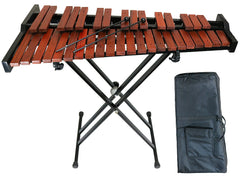 D'Luca 37 Notes Chromatic Wood Xylophone with Stand and Bag
