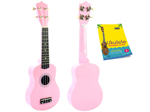 Star Soprano Ukulele 21 Inch with Beginner's Guide, Pink