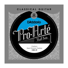 D'Addario CBH-3T Pro-Arte Carbon Classical Guitar Half Set, Hard Tension
