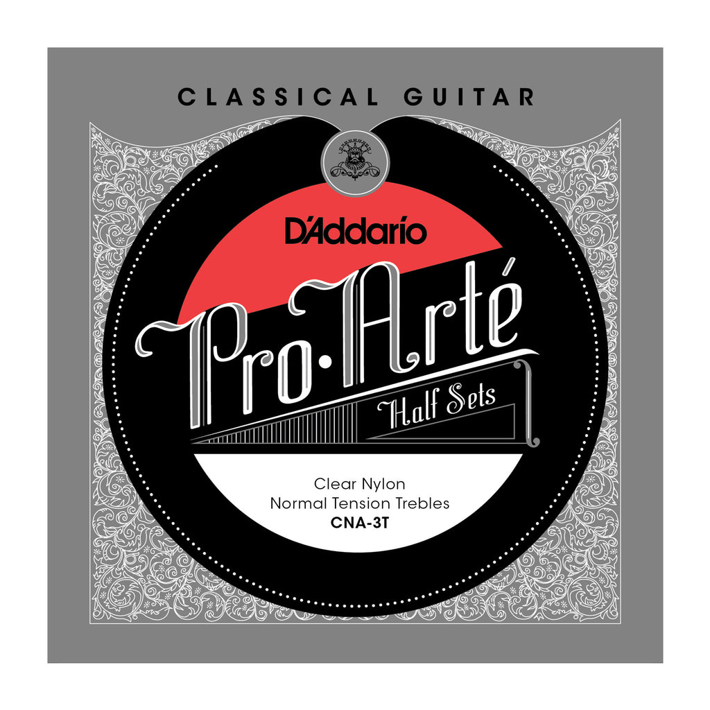 D'Addario CNA-3T Pro-Arte Clear Nylon Classical Guitar Half Set, Alto Tension