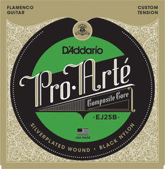 D'Addario EJ25B Pro-Arte Black Nylon Composite Flamenco Guitar Strings