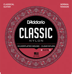 D'Addario EJ27N Student Nylon Classical Guitar Strings, Normal Tension