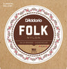 D'Addario EJ33 Folk Nylon Guitar Strings, Ball End, 80/20 Bronze/Clear Nylon Trebles