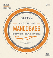 D'Addario J79 Copper Mandobass Strings, 49-130