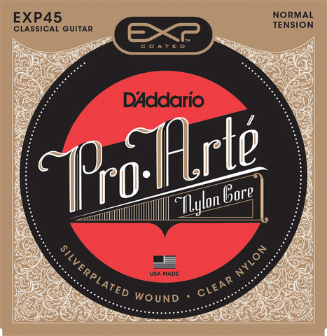 D'Addario EXP45 Coated Classical Guitar Strings, Normal Tension