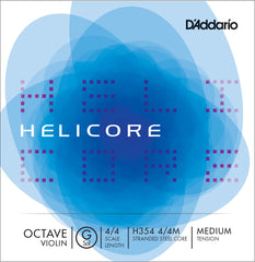 Helicore Octave Violin Single G String, 4/4 Scale, Medium Tension