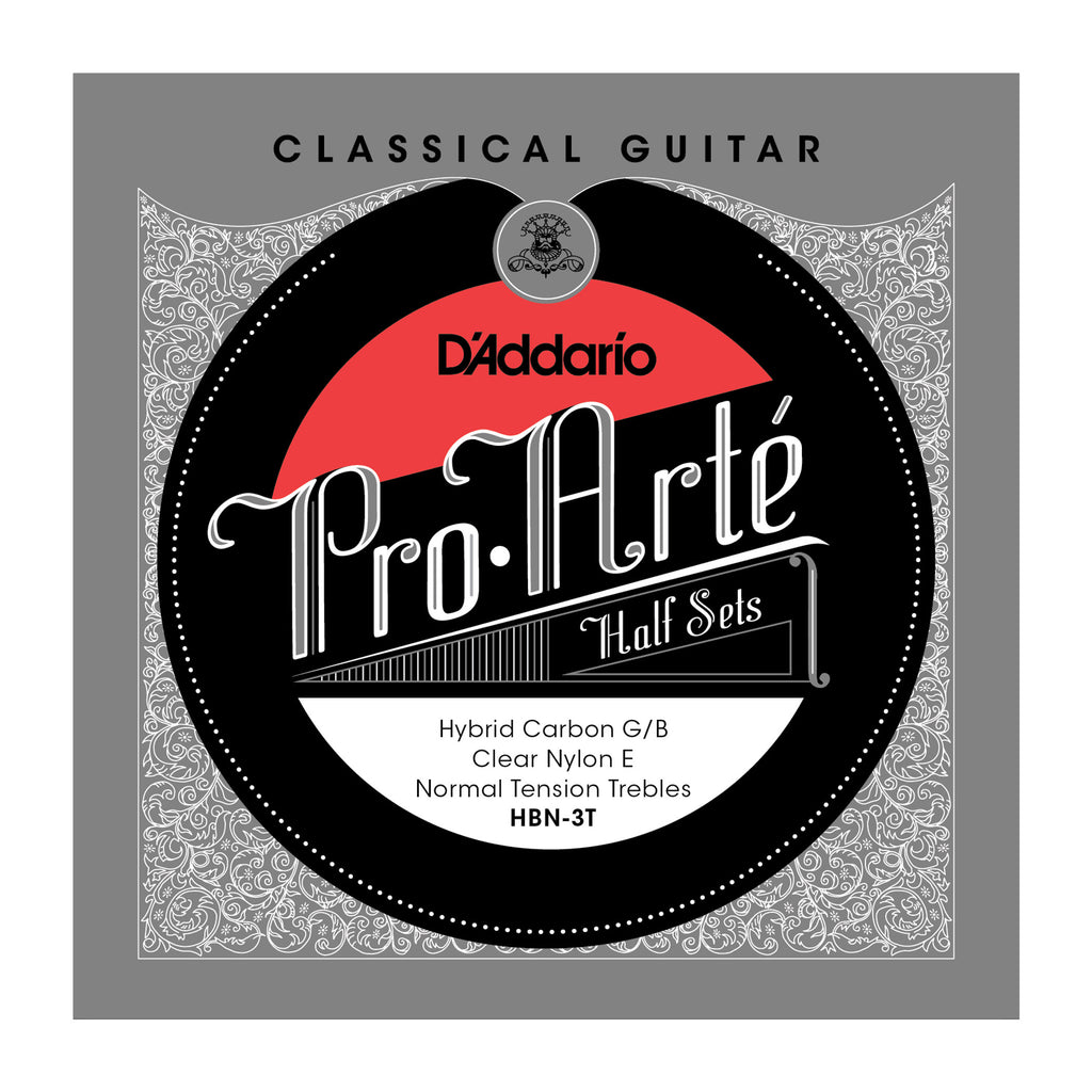 D'Addario HBN-3T Pro-Arte Hybrid Carbon G/B Classical Guitar Half Set, Normal Tension