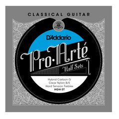 D'Addario HGH-3T Pro-Arte Hybrid Carbon G Classical Guitar Half Set, Hard Tension