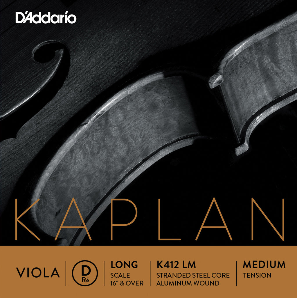 D'Addario Kaplan Viola Single D String, Long Scale, MediumTension