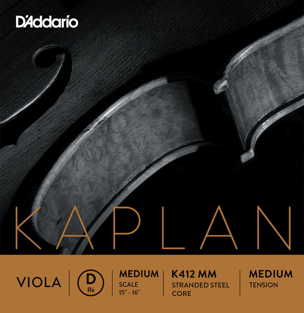 D'Addario Kaplan Viola String Set, Medium Scale, Medium Tension