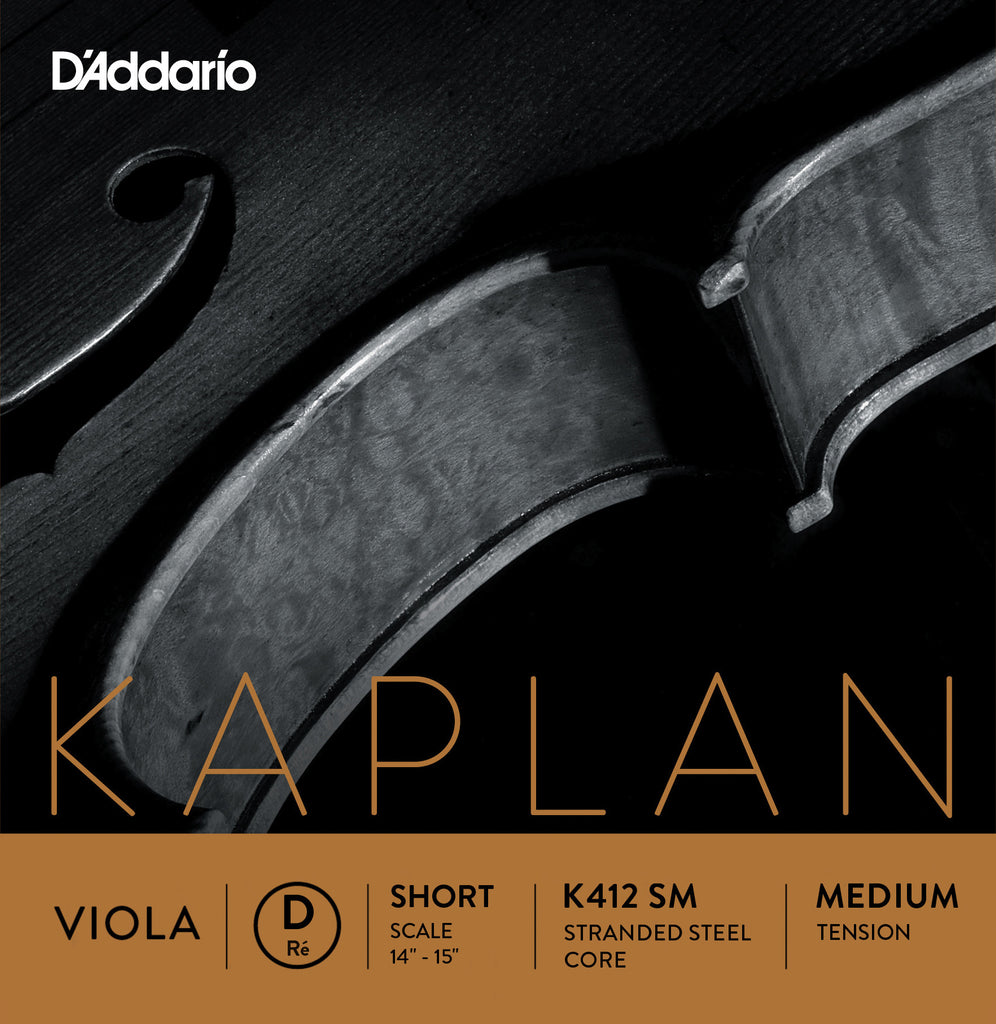 D'Addario Kaplan Viola String Set, Short Scale, Medium Tension