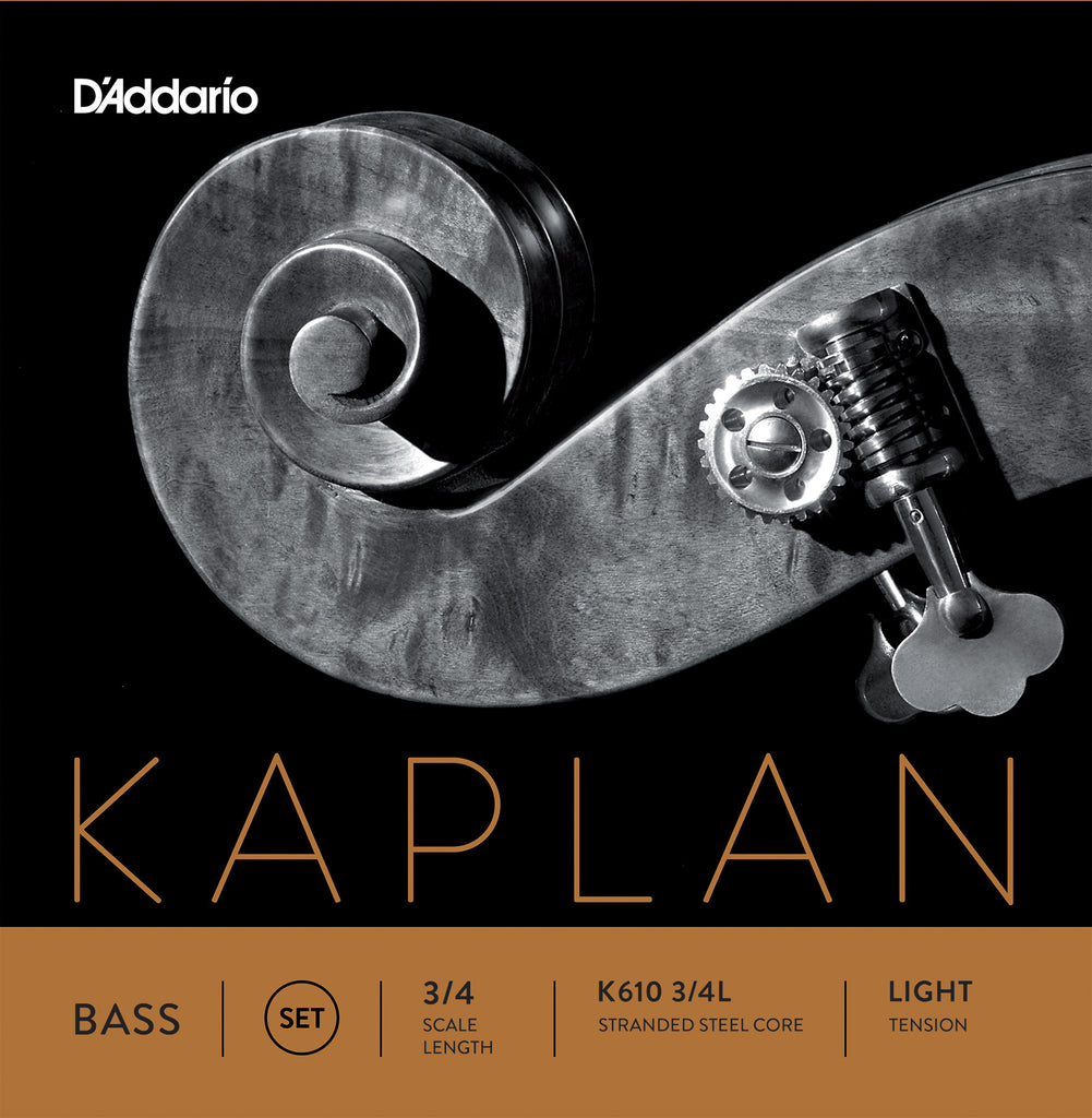 D'Addario Kaplan Bass String Set, 3/4 Scale, Light Tension