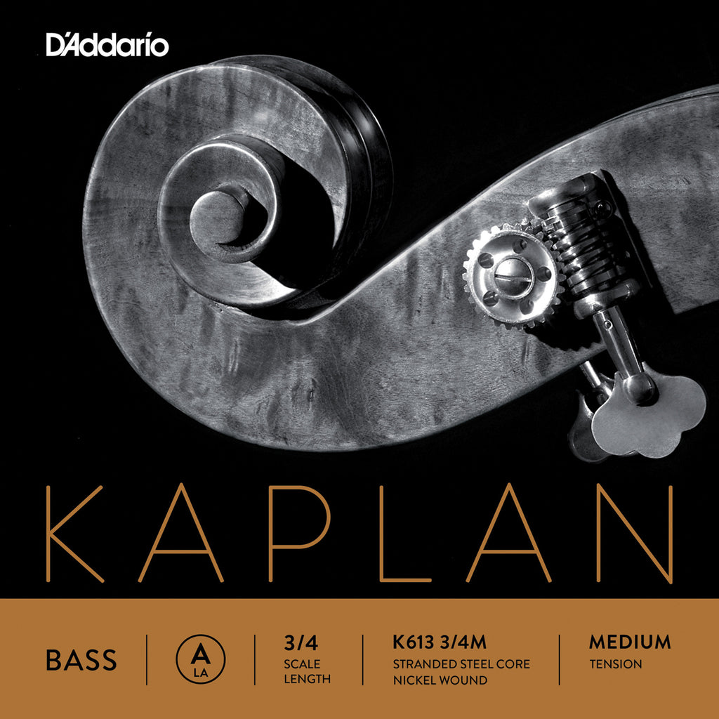 D'Addario Kaplan Bass Single A String, 3/4 Scale, Medium Tension
