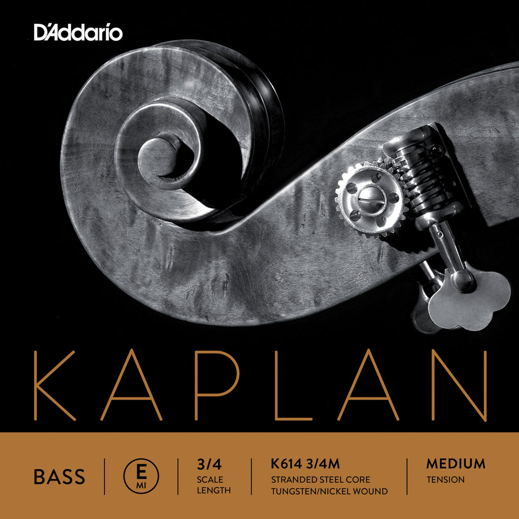 D'Addario Kaplan Bass Single E String, 3/4 Scale, Medium Tension