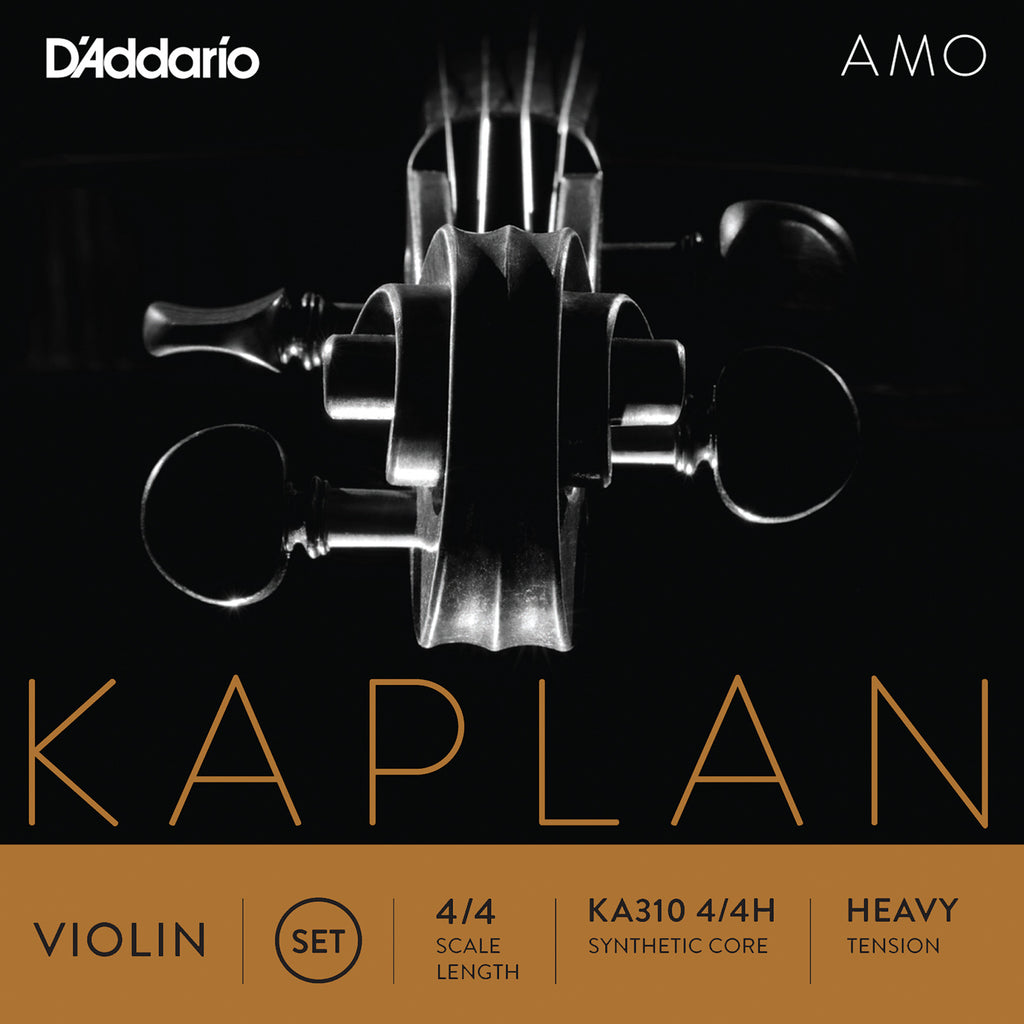 D'Addario Kaplan Amo Violin String Set, 4/4 Scale, Heavy Tension