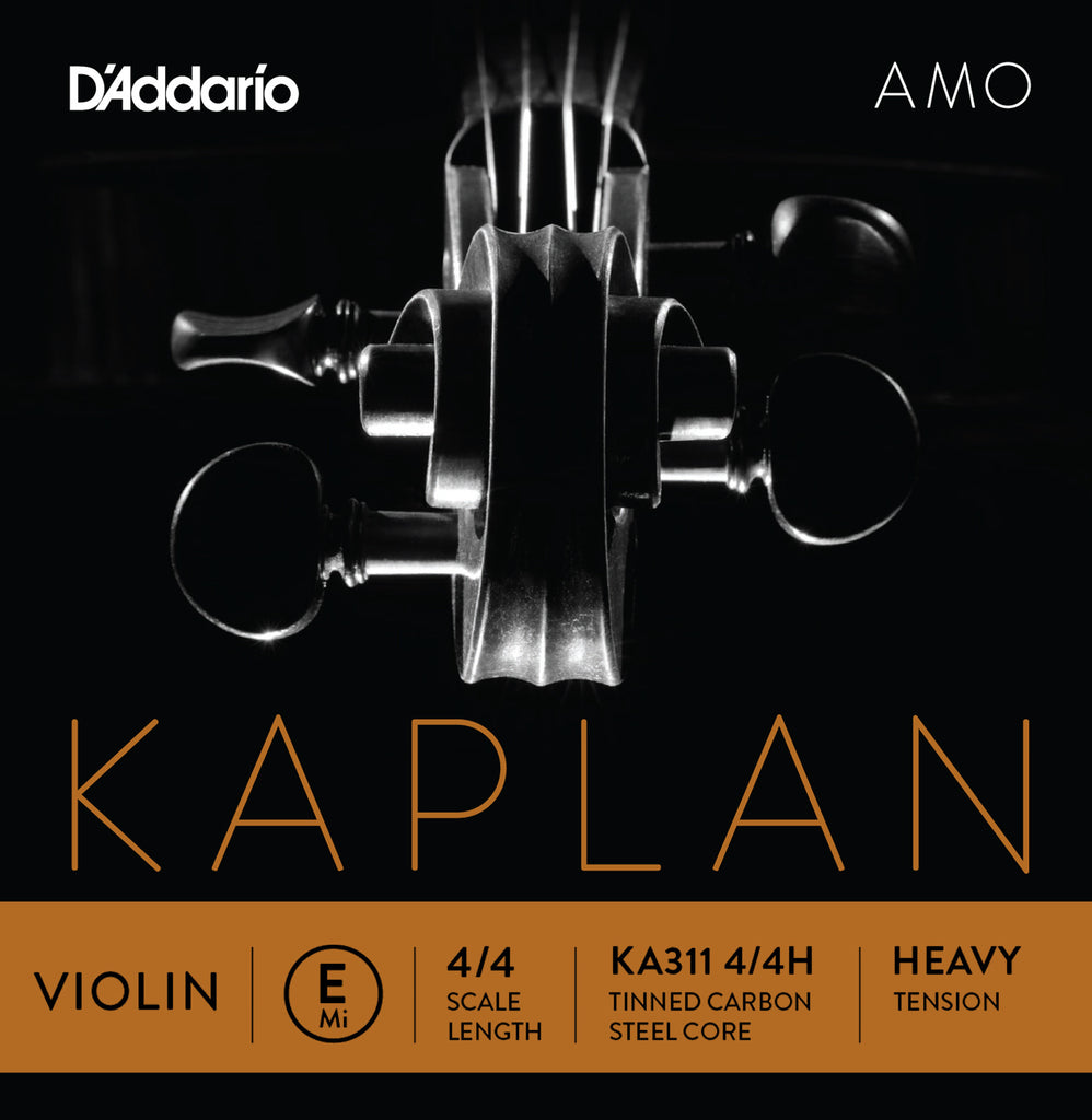 D'Addario Kaplan Amo Violin E String, 4/4 Scale, Heavy Tension