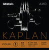 D'Addario Kaplan Amo Violin E String, 4/4 Scale, Light Tension