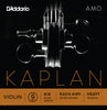 D'Addario Kaplan Amo Violin G String, 4/4 Scale, Heavy Tension