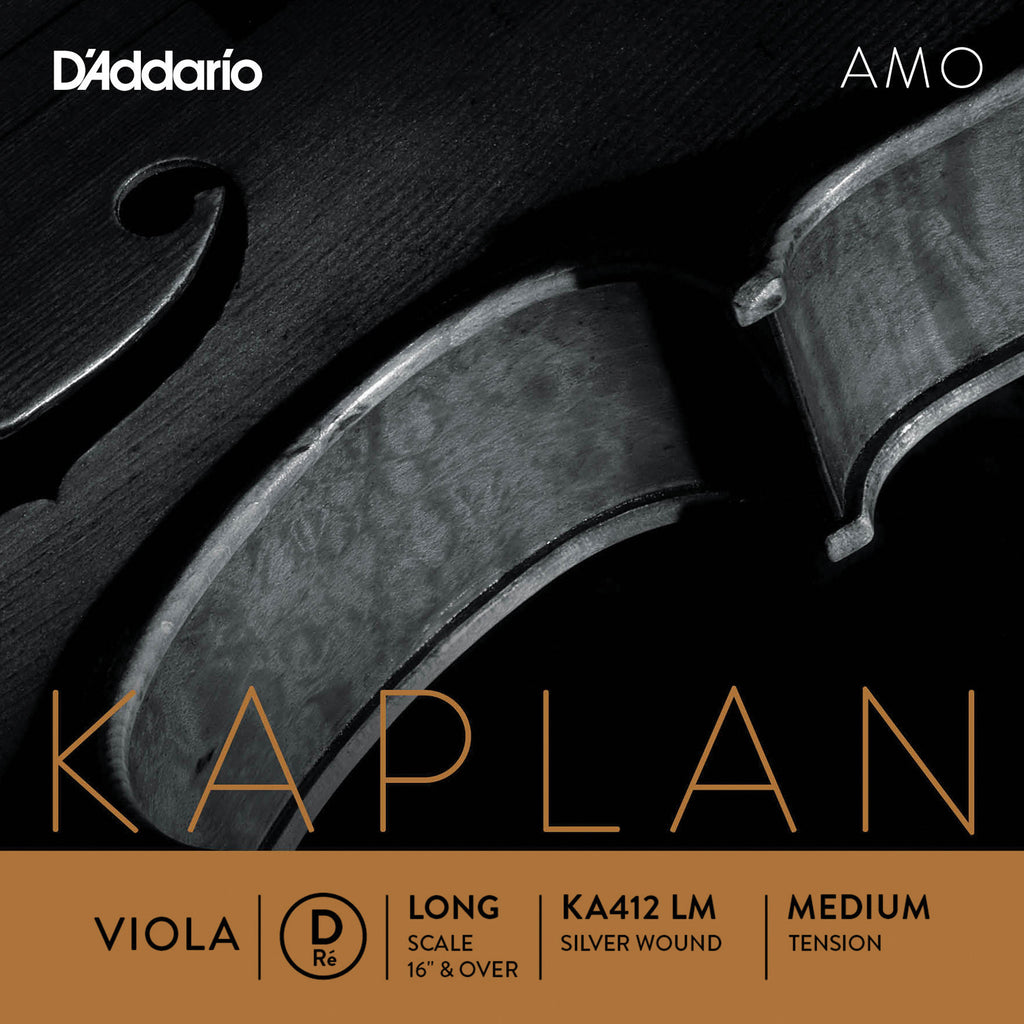 D'Addario Kaplan Amo Viola D String, Long Scale, Medium Tension