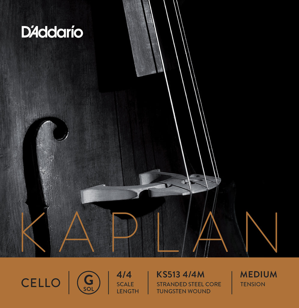 D'Addario Kaplan Cello Single G String, 4/4 Scale, Medium Tension