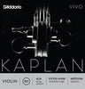 D'Addario Kaplan Vivo Violin String Set, 4/4 Scale, Medium Tension