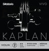 D'Addario Kaplan Vivo Violin D String, 4/4 Scale, Medium Tension