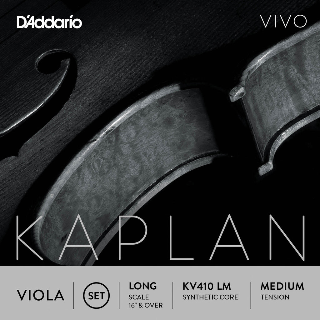D'Addario Kaplan Vivo Viola String Set, Long Scale, Medium Tension