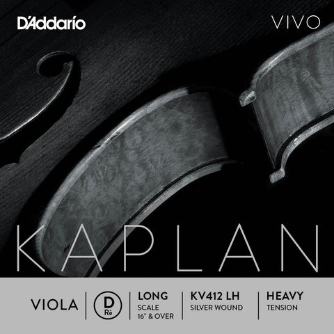 D'Addario Kaplan Vivo Viola D String, Long Scale, Heavy Tension