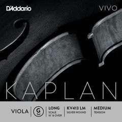 D'Addario Kaplan Vivo Viola G String, Long Scale, Medium Tension