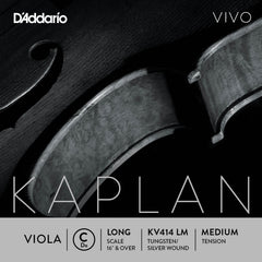 D'Addario Kaplan Vivo Viola C String, Long Scale, Medium Tension