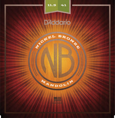 D'Addario NBM11541 Nickel Bronze Mandolin Strings, Light, 11.5-41