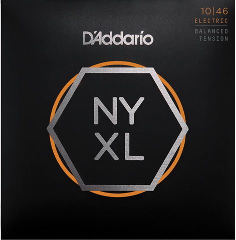 D'Addario NYXL1046BT Nickel Wound Electric Guitar Strings, Balanced Tension, 10-46