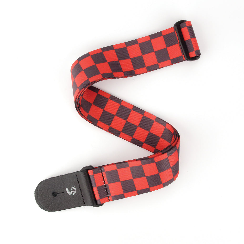 D'Addario Large Checkerboard - Black & Red